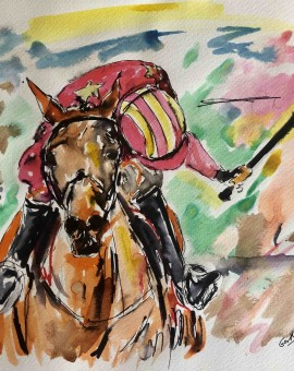 Garth Bayley Cheltenham races art