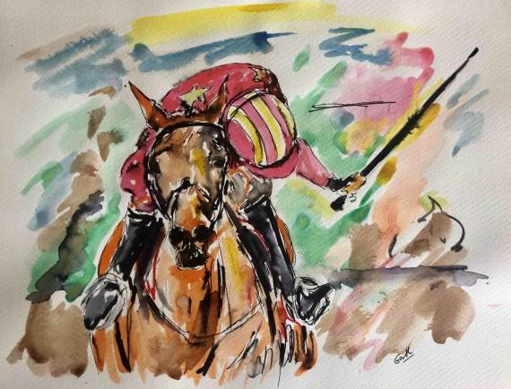 Garth Bayley Cheltenham races art