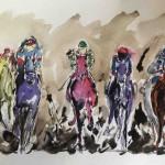 Garth Bayley. horse racing art.2