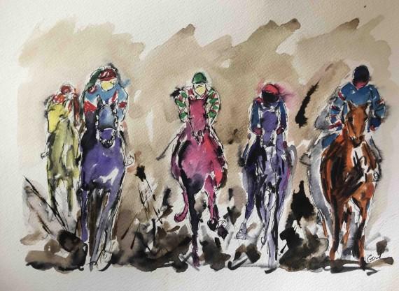 Buy Garth Baley horse raving art