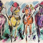 Garth Bayley.horse racing art.1