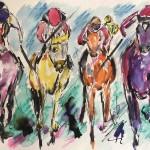 Garth Bayley.horse racing art.1