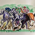 Garth Bayley.horse racing art.3.