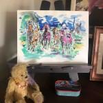Garth Bayley.horse racing art.5.studio