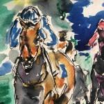 Garth bayley.horse racing art.5.close up
