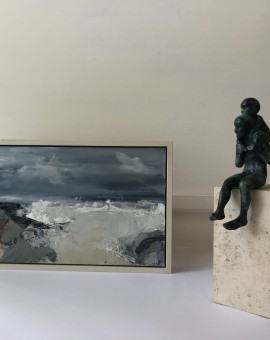 Jemma Powell, Stormy Sea, Original Painting, Seascape Art