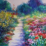 Mary Chaplin, A sunny path at Monet's garden in Giverny Wychwood Art