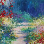Mary Chaplin, A sunny path at Monet's garden in Giverny detail 3Wychwood Art
