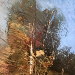 Original Claire Wiltsher Painting, Reflecting the Surface II, Abstract Landscape Art for Sale 10