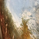 Original Claire Wiltsher Painting, Reflecting the Surface II, Abstract Landscape Art for Sale 2