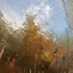 Original Claire Wiltsher Painting, Reflecting the Surface II, Abstract Landscape Art for Sale 7