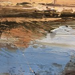 Original Claire Wiltsher Painting, Reflecting the Surface II, Abstract Landscape Art for Sale 8