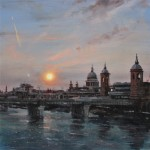 Alex Rennie, sun above canon street london