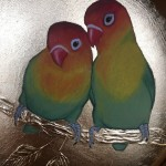 a pair of lovebirds sally anne johns