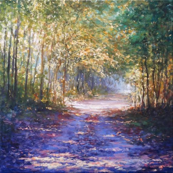 Mariusz Kaldowski | enchanted forest | purple tree painting