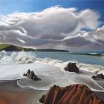 Tim Woodcock Jones | Bigbury | seascape painting bigbury