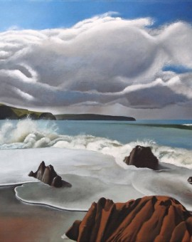 Tim Woodcock Jones | Bigbury | seascape painting bigbury
