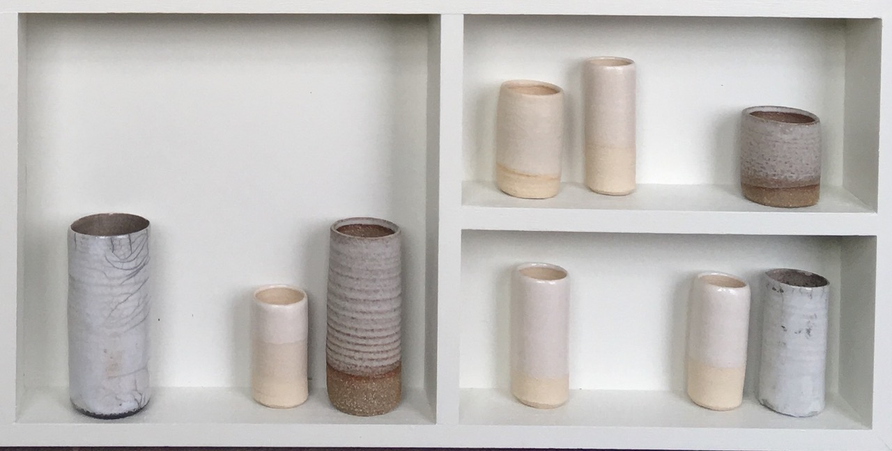 Emma Bell's Three Clays II pictured in close up so as to appreciate the detail of the piece.