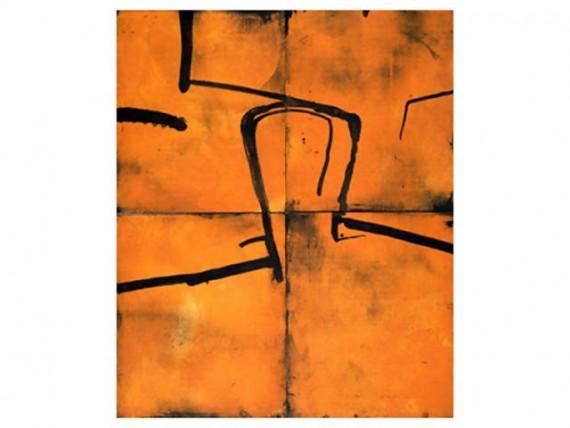 grahmn fransella, head on orange
