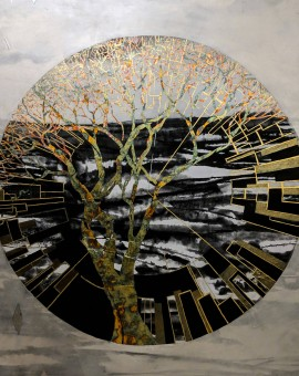 lorraine thorne, evolutionary tree, original painting