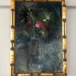 pink flowers in a jam jar framed jemm apowell