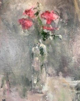 pink roses, jemma powell, original painting