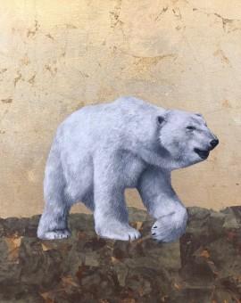 Louise McNaught   Spirit of the North   Polar bear painting