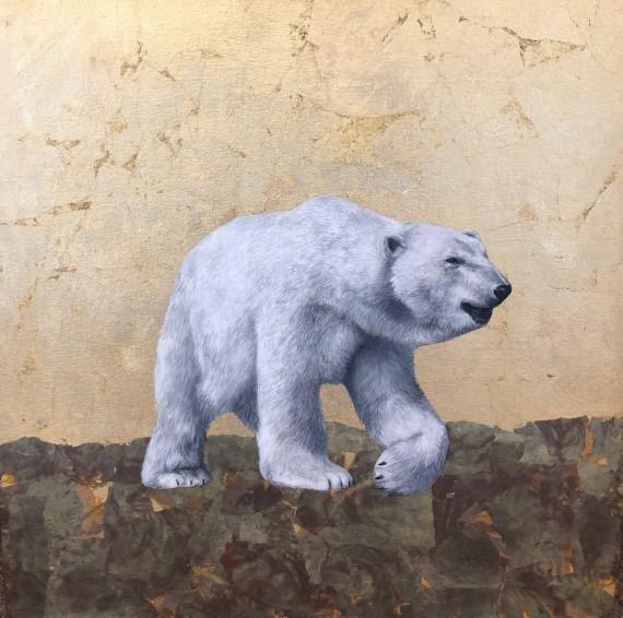 Louise McNaught | Spirit of the North | Polar bear painting