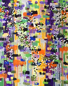 rob dunt Dundonald Blooms, abstract painting