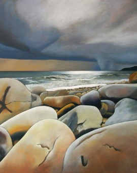 Tim Woodcock-Jones |storm on lyre | beach painting