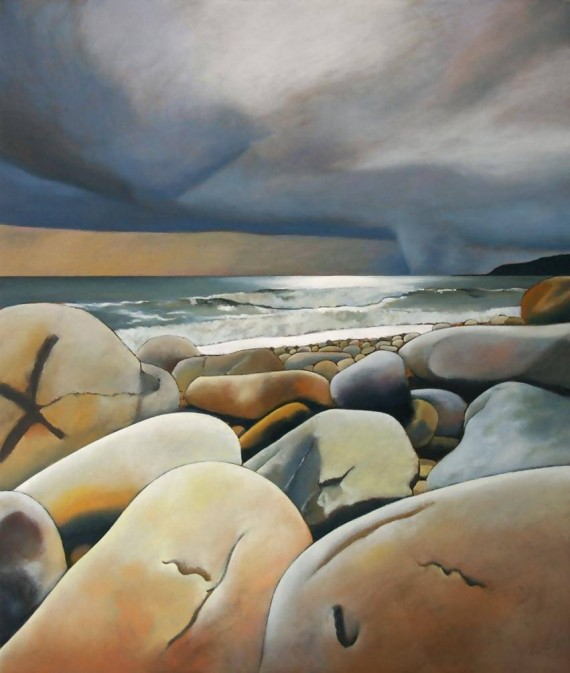 Tim Woodcock-Jones |storm on lyre | beach painting