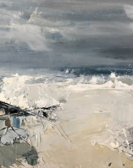 stormy sea, jemma powell, original painting