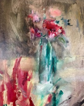 sweet peas ii, jemma powell, original painting
