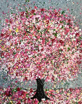 swirling blossom storm