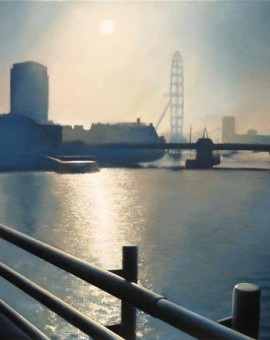Tim Woodcock Jones- Charing cross bridge |london cityscpae painting