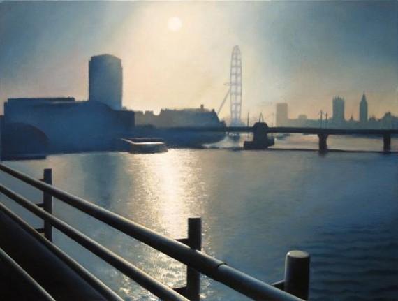 Tim Woodcock Jones- Charing cross bridge |london cityscpae painting