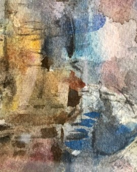 venice, jemma powell, original painting detail