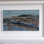 Lesley Dabson    Albert Bridge and Blue Sky   F   Wychwood Art