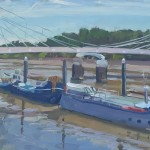 Lesley Dabson   Albert Bridge and Blue Sky  Wychwood Art