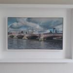 Lesley Dabson    Big Clouds over Blackfriars Bridge   Framed   Wychwood Art