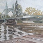 Lesley Dabson    Hammersmith Bridge, Soft Light    Wychwood Art