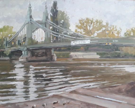 hammersmith bridge original art for sale