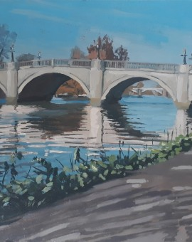 Lesley Dabson   Richmond Bridge   Wychwood Art