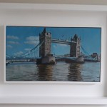 Lesley Dabson   Tower Bridge from the North Bank   Framed   Wychwood Art