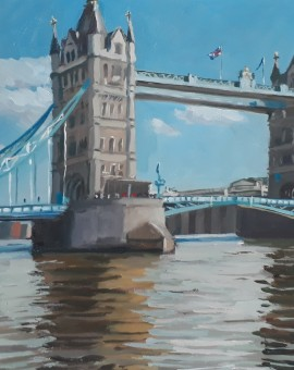 Lesley Dabson  Tower Bridge from the North Bank  Wychwood Art