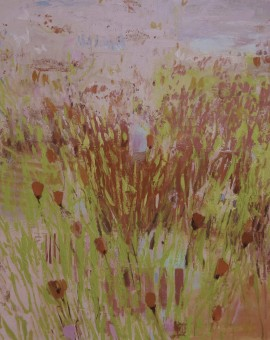 Teresa Pemberton A Walk on the Wilside Wychwood Art 100 x 120  cm oil on canvas landscape 3,000