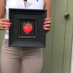 dani-humberstone-very-red-strawberry-oil-on-board-painting-framed-scale