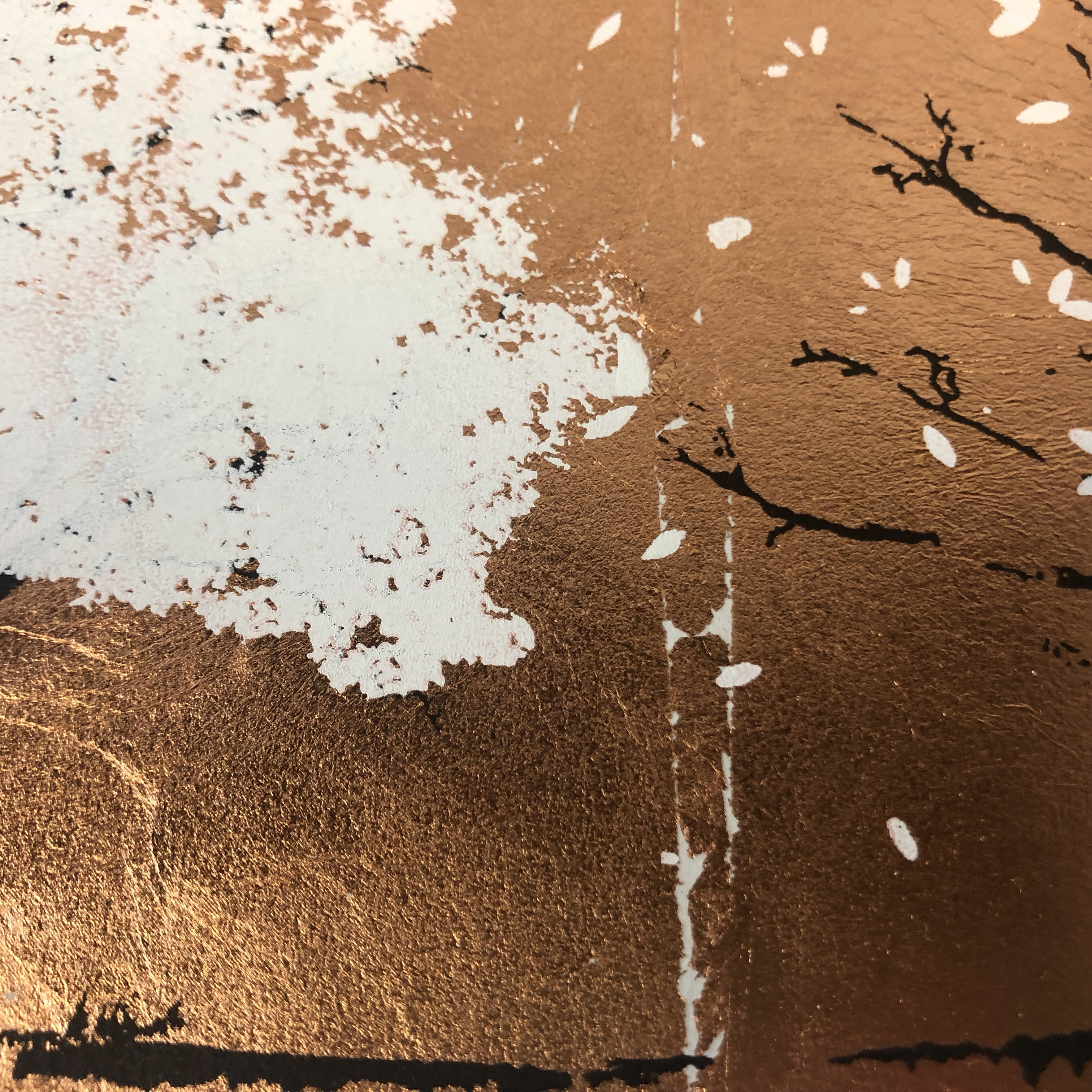 Katie Edwards' Copper Seasons with a close up picture of the detail.