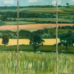 Eleanor Woolley   Fields of Linseed near Chipping Norton   Impressionistic   Landscape   Section 1