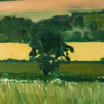 Eleanor Woolley | Fields of Linseed near Chipping Norton | Impressionistic | Landscape | Section 2